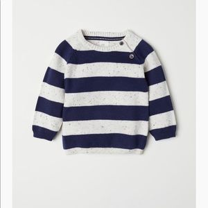 H&M knit sweater dark blue/white melange